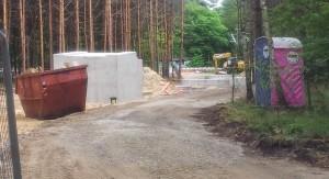 Baustelle Querung Görlitzer Bahn im Grünauer Forst