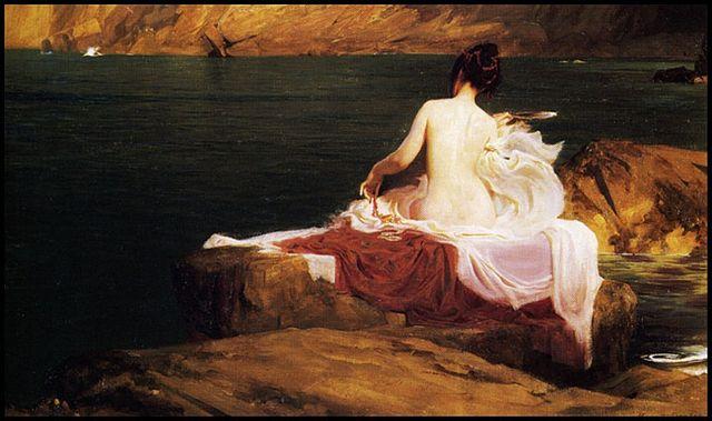 """Herbert James Draper: """"Calypso's Island"""", 1897. gemeinfreies Werk"""
